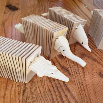 クラッパー コキリコ ささら イルカ へび 訳ありセール 格安 像 ワニ カスタネット 民族楽器 パーカッション バリ雑貨 国産品