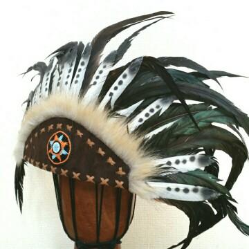 ウォーボンネット 羽根かんむり wn-19 ネイティブ インディアン 羽飾り ハロウィン パーティーグッズ 仮装アイテム