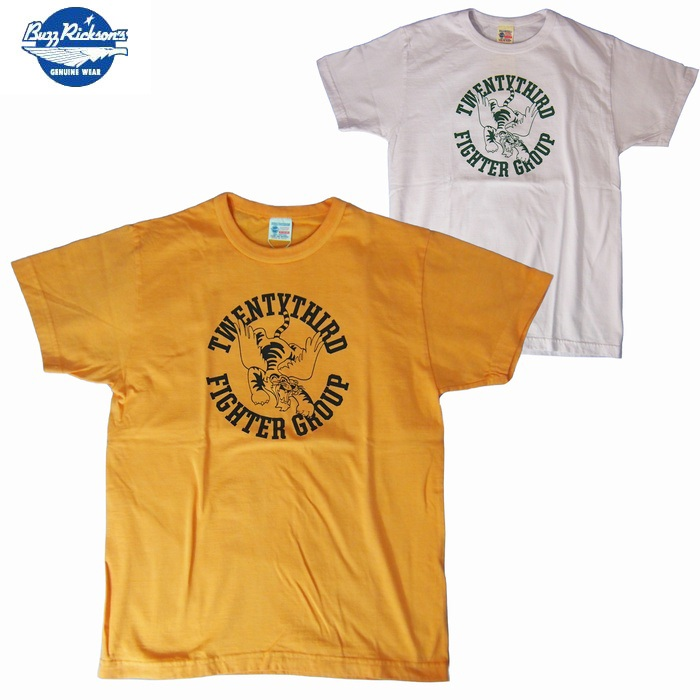 Tシャツ BuzzRickson's/バズリクソンズ S/S Tシャツ 「23rd FIGHTER GROUP」2カラーS・M・Lサイズ メンズ【Made In USA.】【あす楽】