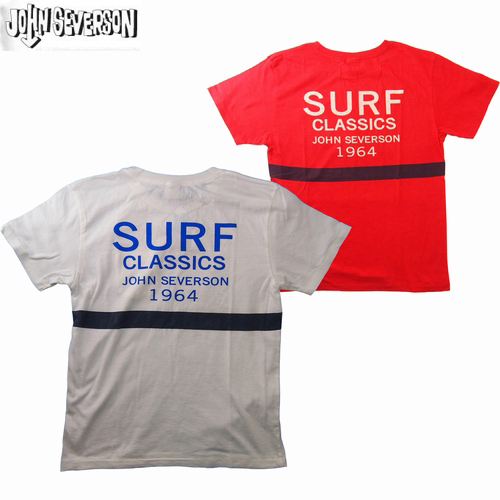 サーフTシャツ JOHN SEVERSON/ジョンセバーソンS/S ポケットT-SHIRT「SURF CLASSICS」S・M・Lサイズ 2カラー メンズ【あす楽】