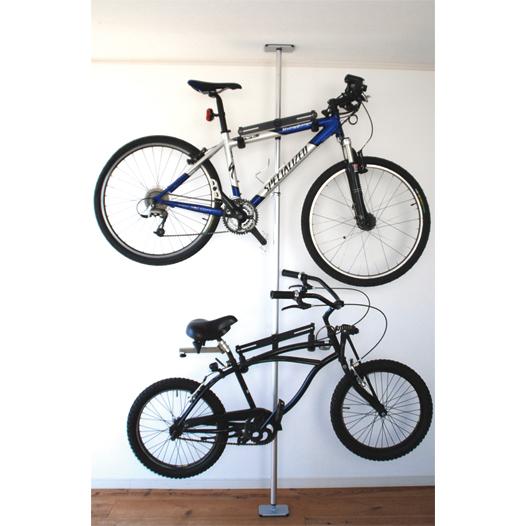 室内バイク(自転車)ラック TSUPPARI KUN SERIES/ツッパリ君シリーズ バイク×2・ラック【送料無料】