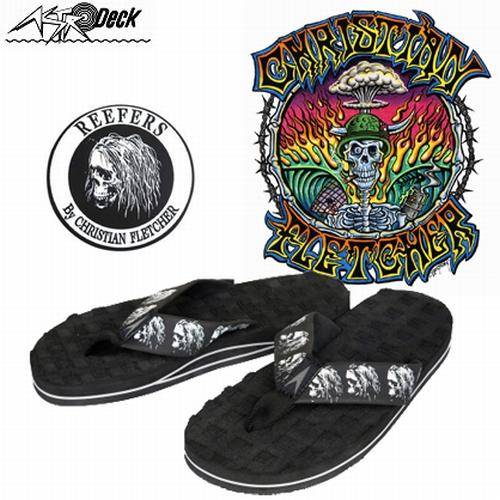3fc510903fd7 Beach Sandals ASTRODECK astrodeck blackline material   men s flip flops  size 3 3 color