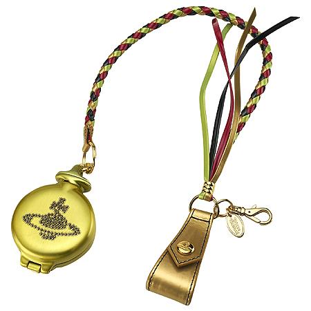 ヴィヴィアンウエストウッド(Vivienne Westwood)ラインストーン付きゴールド携帯灰皿(オーブ)【あす楽対応_関東】