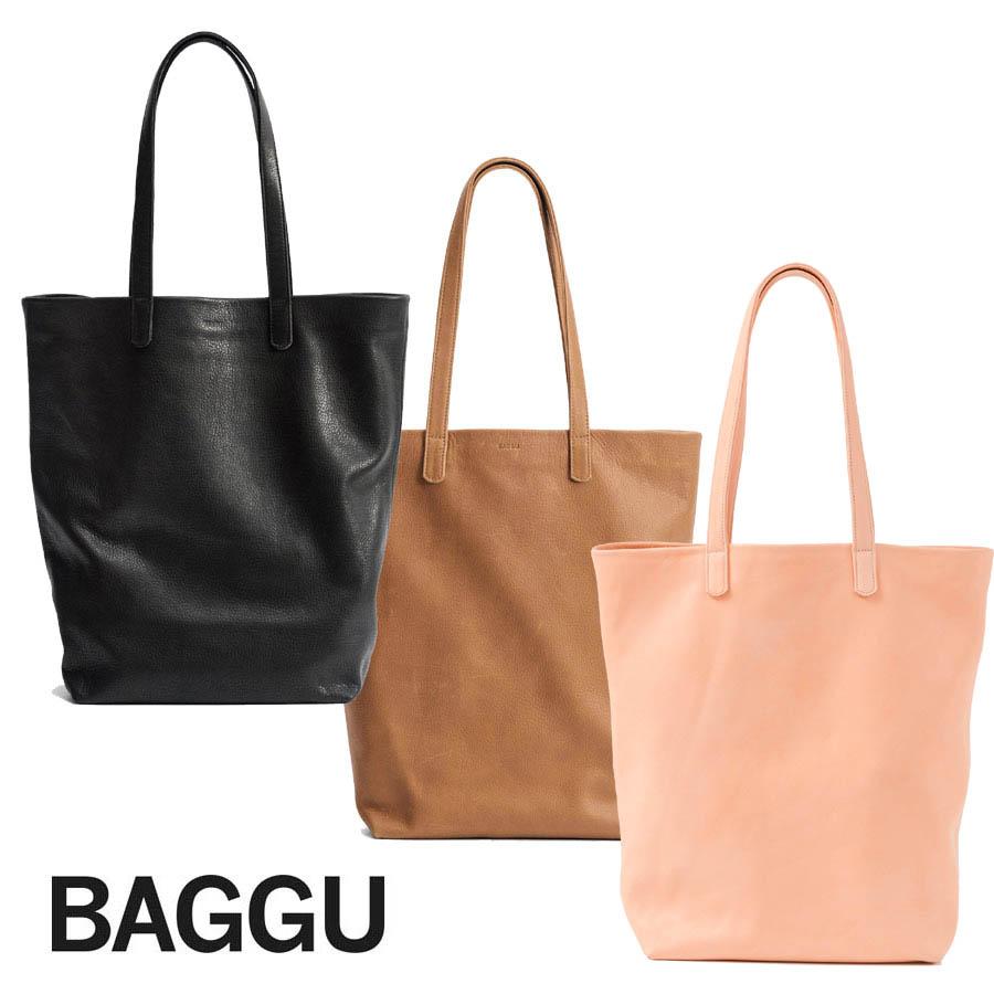 BAGGU(バグゥ)本革レザートートバッグ/LEATHER TOTE/バグー【あす楽対応_関東】