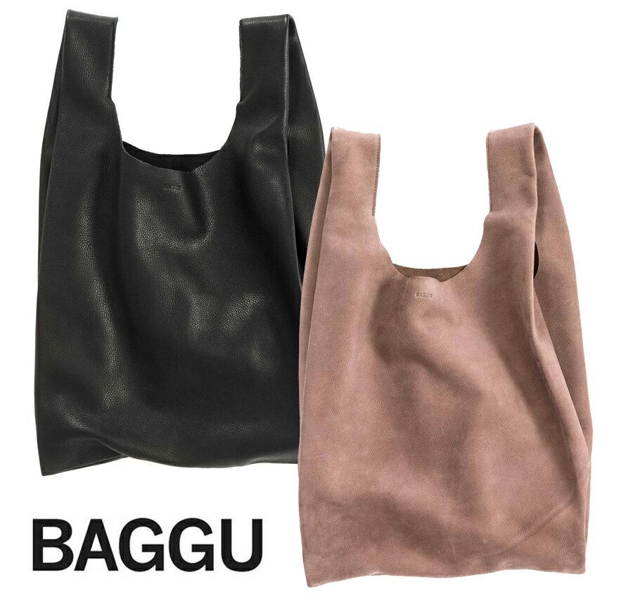 BAGGU(バグゥ)本革レザーエコバッグ/Leather Baggu/レジバッグ/バグー【あす楽対応_関東】