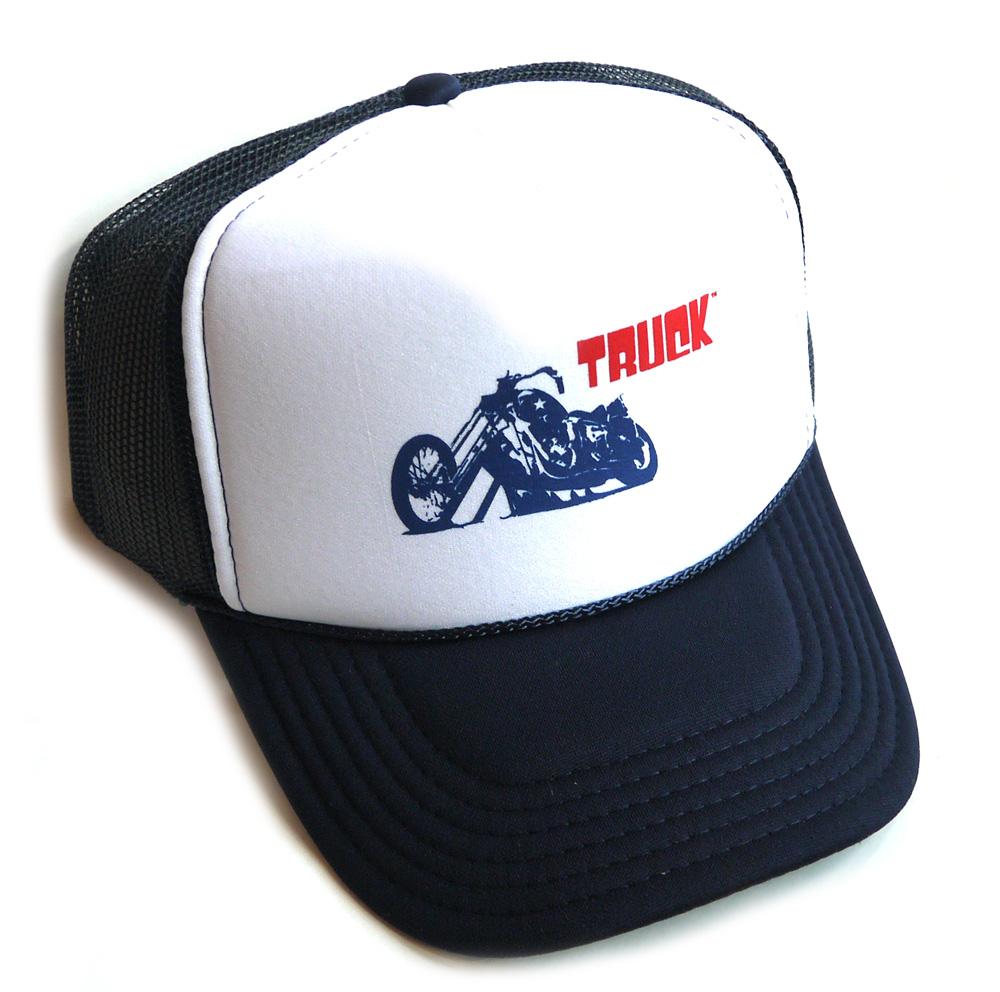 トラックブランド 正規逆輸入品 Truck Brand 激安超特価 ネイビー×ホワイト あす楽対応_関東 バイク柄メッシュキャップ