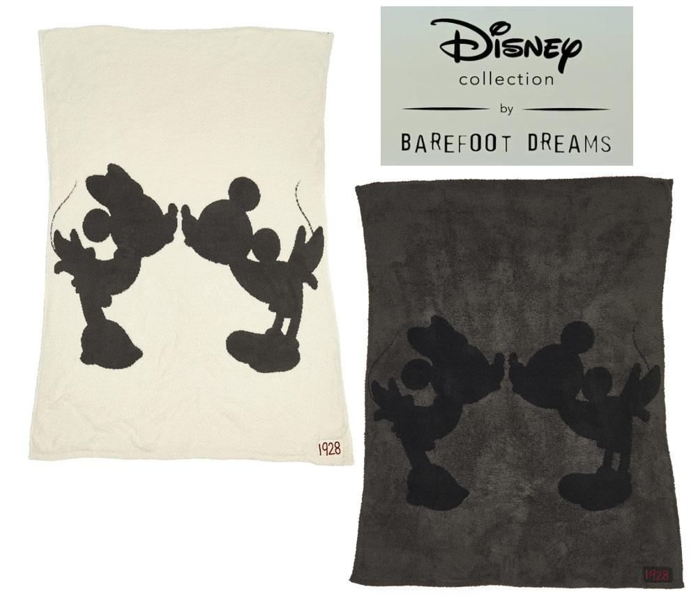 ベアフットドリームス×ディズニーコラボ ミッキーマウス、ミニーマウス シングルブランケット/Barefoot Dreams/Disney Classic Mickey Mouse & Minnie Mouse Throw【あす楽対応_関東】
