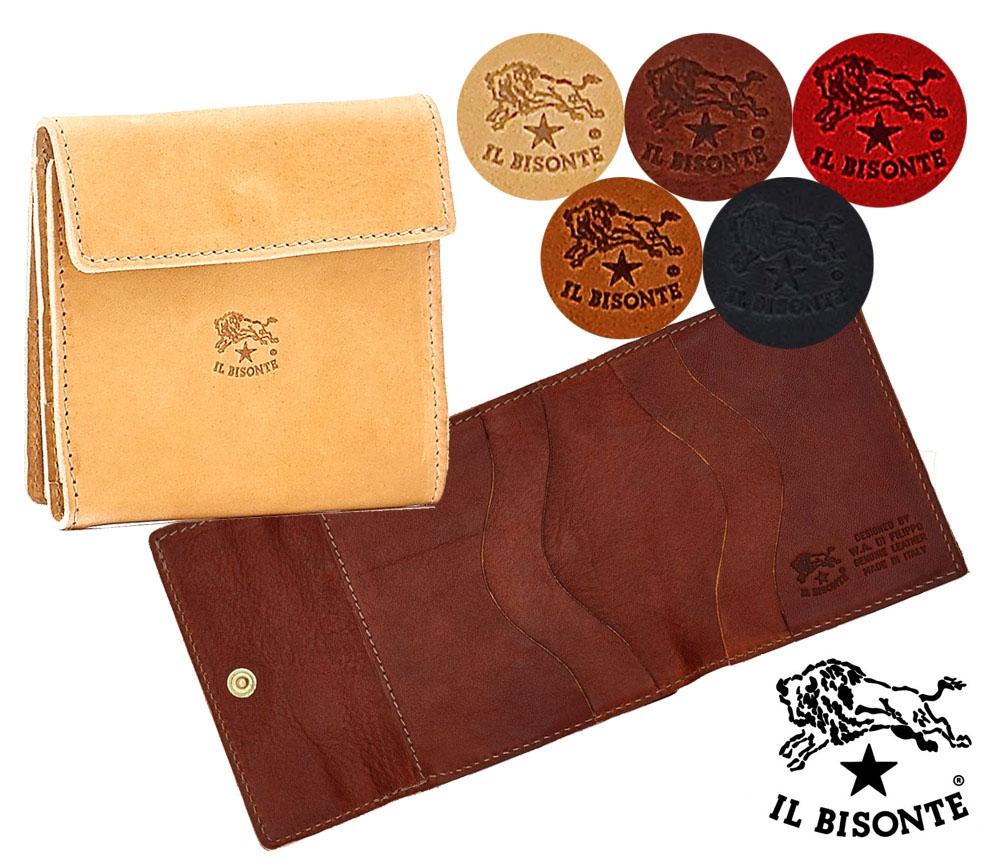 イルビゾンテ(Il Bisonte)二つ折りレザー財布/2つ折レザースクエアウォレット/C0455/2020年新入荷モデル【あす楽対応_関東】