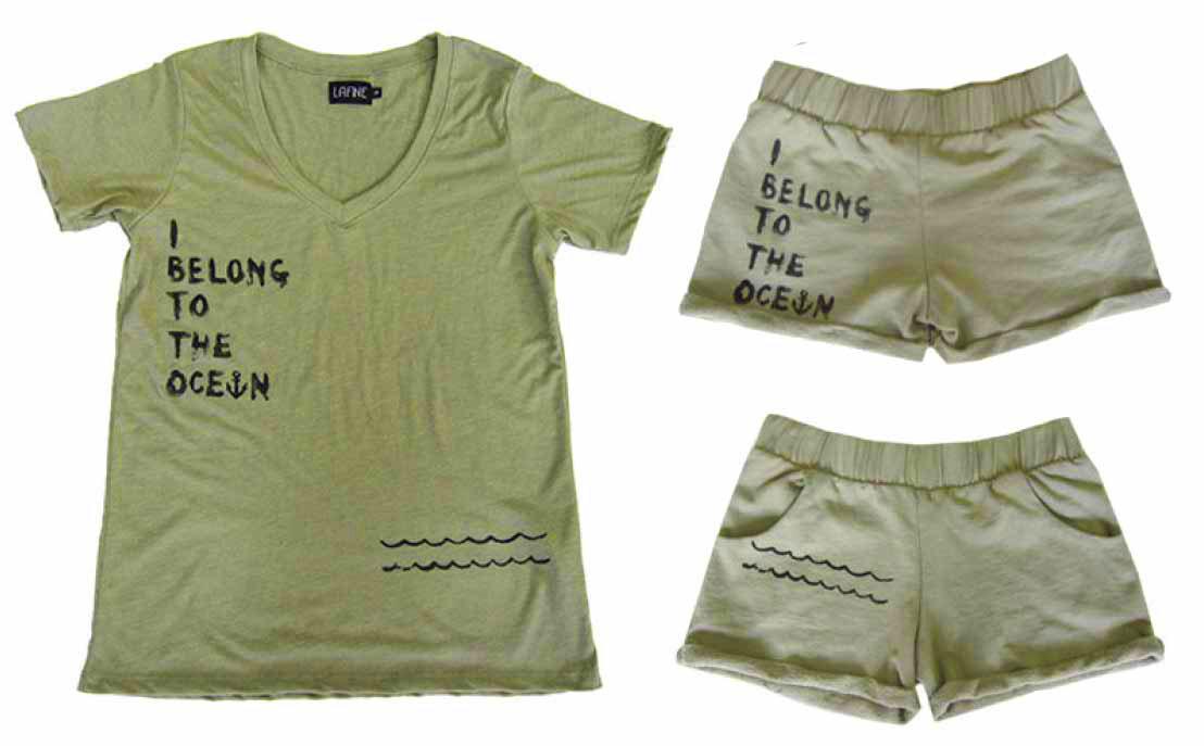 LAFINE(ラファイン)Tシャツ&スウェットショートパンツ上下セットアップ(カーキ)