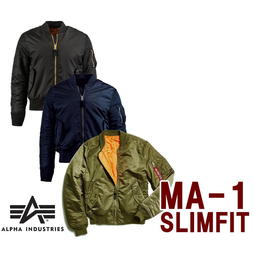 【2019年秋冬モデル/アルファMA-1】アルファインダストリーズ(Alpha Industries)MA-1 Slim Fit/フライトジャケットスリムフィットタイプ【あす楽対応_関東】