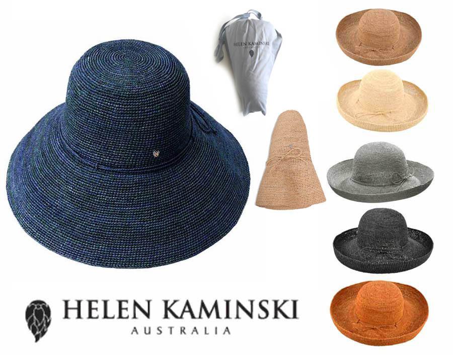【収納袋付】ヘレンカミンスキー(Helen Kaminski)PROVENCE12 プロバンス12 ラフィアハット 帽子 ストローハット 持ち運びに便利なロゴ入り布バッグ付き UVカットハット 折りたためる帽子