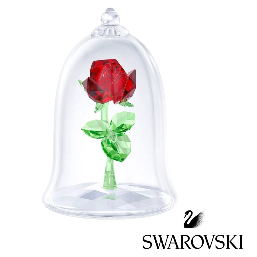スワロフスキー(SWAROVSKI)美女と野獣 魔法のバラ 薔薇/ローズクリスタルオブジェ/ディズニーコラボ/Enchanted Rose/スワロフスキー社製置物