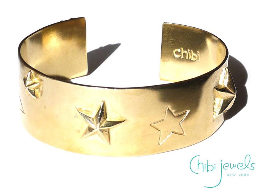 Chibi Jewels(チビジュエルズ)スーパースター星のバングルブレスレット/Super Star Cuff Bracelet/B153【あす楽対応_関東】