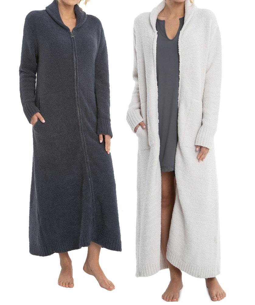 ベアフットドリームス(Barefoot Dreams)フルジップローブ/着る毛布/ガウン WCC1006 CozyChic Full Zip Robe【あす楽対応_関東】