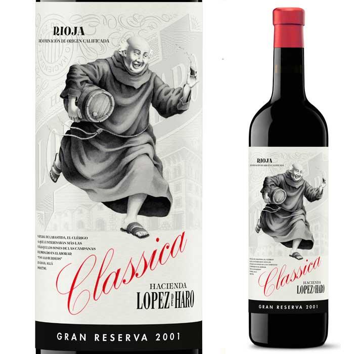 伝統の地リオハ産赤ワイン ロペス・デ・アロ クラシック グランレセルバ ティント [2001] ボデガ クラシカ 750ml(赤ワイン)【フルボディ】