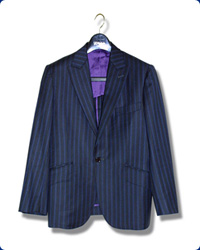 【ひらつかの仮縫い付オーダーメイドスーツ】三つ揃えスーツ/メンズ/合夏物・合冬物(ウール、ポリエステル混紡)