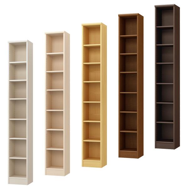 カラーボックス 本棚 書棚 飾り棚 整理棚 レディメイドラック(幅28.6×奥行31×高さ200cm)