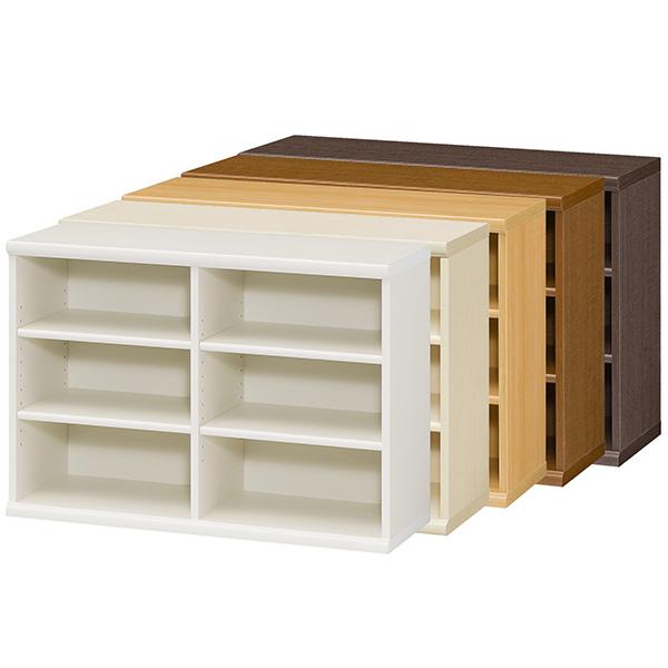 カラーボックス 本棚 書棚 飾り棚 整理棚 レディメイドラック(幅86.5×奥行31×高さ60cm)