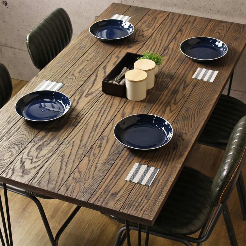 オアシス ヴィンテージテーブル ダイニングテーブル 幅150cm 角型 4人掛け 4人用 オーク 無垢 天然木 木製 おしゃれな カフェ ヴィンテージ ビンテージ 男前 ブルックリン 北欧 おすすめ ordy