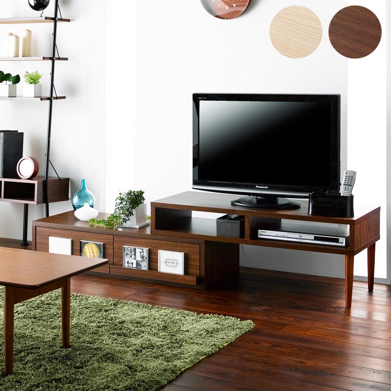 伸縮テレビ台 リベルテ libert ブラウン ナチュラル 木製 木目 スライド コーナー 自在なレイアウト iwatsuki ordy