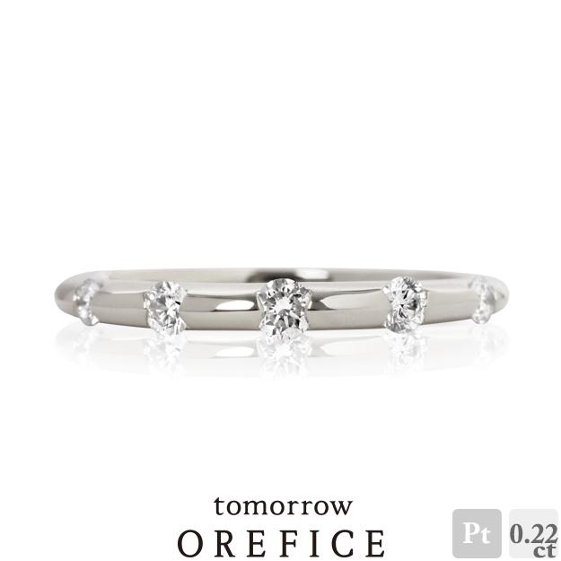 Pt950プラチナ×ダイヤモンド「デュウ」リング 指輪★0.22ct 18k 18金 ダイア オレフィーチェ