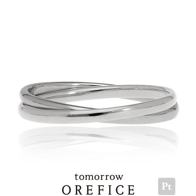 Pt950プラチナ「2連ツイン」リング プラチナ 白金 orefice オレフィーチェ