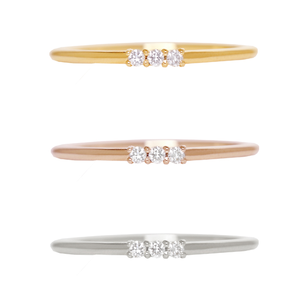"K18黄金×鑽石""漢納""環戒指★0.03ct 18k 18錢大音階第四音LAN二筆直極細的小指指甲結論我費Che"