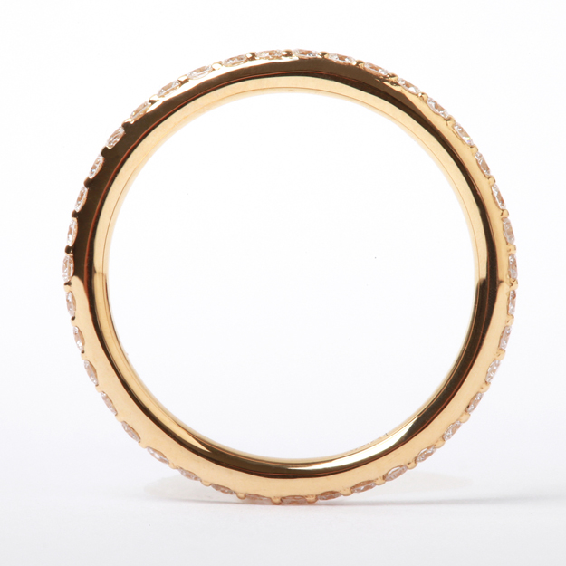 """K18黄金×鑽石""""risafuruetaniti""""環☆0.3ct furuetaniti戒指18錢鑽石簡單的我費Che"""