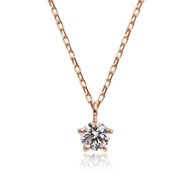 K18ゴールド×ダイヤモンド ジーン ネックレス ペンダント 0 15ct 一粒 ダイア 18k 18金 オレフィーチェDH2W9YEI