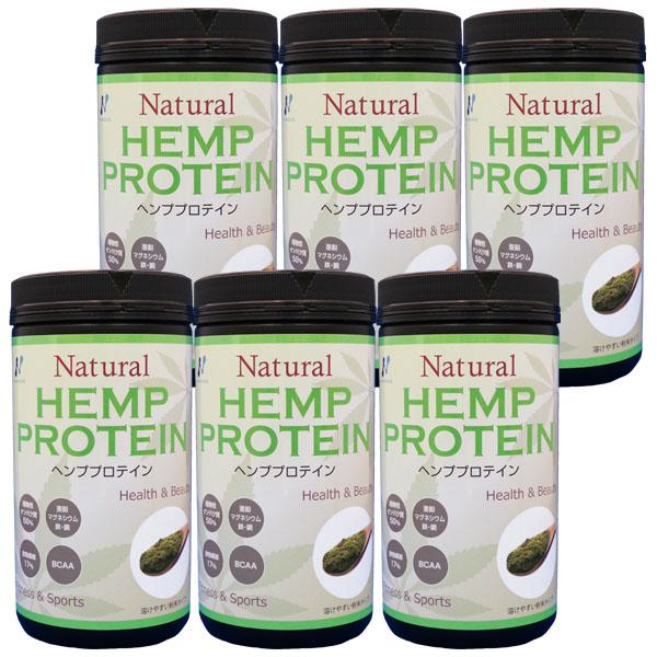 自然栽培ヘンプ(麻)プロテイン マルチミネラルビタミン 454g 6個セット