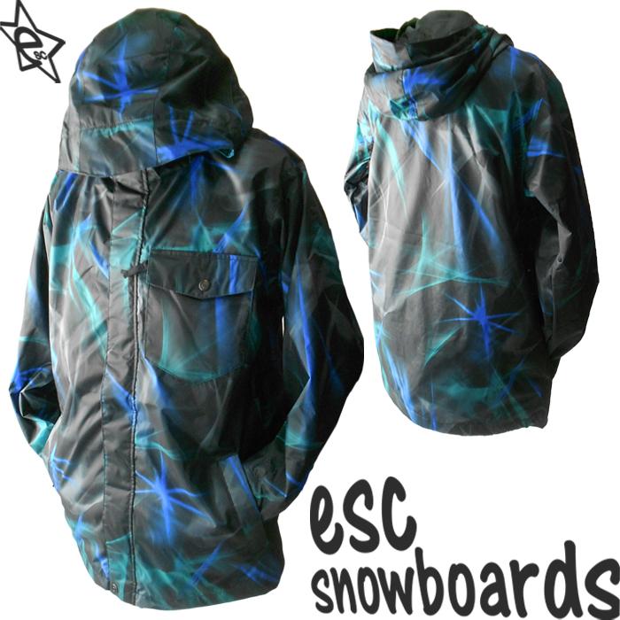 送料無料【 スノーボード ウェア/ ジャケット 】 12-13モデル esc(イーエスシー) スキー スノボ ウェア ▼ジャケット メンズ/レディース/ユニセックス(男女兼用) ESW2201 bright BLK 柄