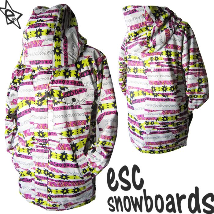 送料無料【 スノーボード ウェア/ ジャケット 】 12-13モデル esc(イーエスシー) スキー スノボ ウェア ▼ジャケット メンズ/レディース/ユニセックス(男女兼用) ESW2201 Nordic PURPLE 柄
