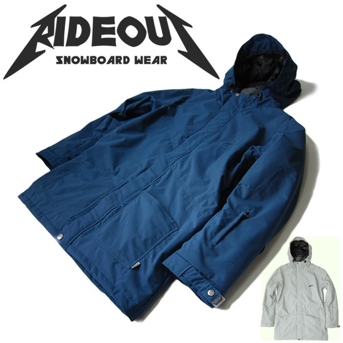 ◆。送料無料。◆rideout(ライドアウト) 12-13モデル dragon jacket / ドラゴンジャケット / RSW2703 無地 ◆スキー スノボ用 ユニセックス(男女兼用) ジャケット