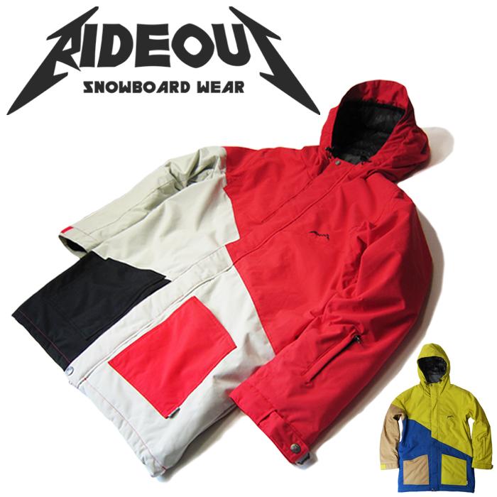 ◆。送料無料。◆rideout(ライドアウト) 12-13モデル dragon jacket / ドラゴンジャケット / RSW2704 切り替え◆スキー スノボ用 ユニセックス(男女兼用) ジャケット