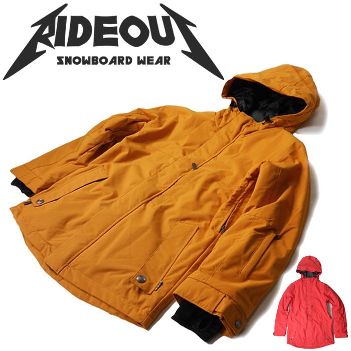 ◆。送料無料。◆rideout(ライドアウト) 12-13モデル wizard jacket / ウィザードジャケット / RSW2706 無地◆スキー スノボ用 ユニセックス(男女兼用) ジャケット