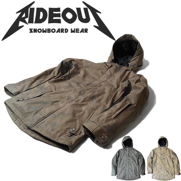 ◆。送料無料。◆rideout(ライドアウト) 12-13モデル wizard jacket / ウィザードジャケット / RSW2708 stone print◆スキー スノボ用 ユニセックス(男女兼用) ジャケット