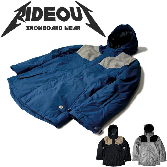 ◆。送料無料。◆rideout(ライドアウト) 12-13モデル wizard jacket / ウィザードジャケット / RSW2709 2way ダウンジャケット◆スキー スノボ用 ユニセックス(男女兼用) ジャケット
