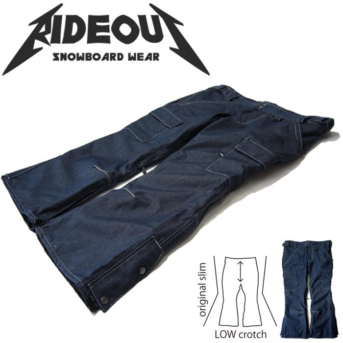 ◆。送料無料。◆rideout(ライドアウト) 12-13モデル wizard pants / ウィザードパンツ / RSW9276 デニムパンツ◆スキー スノボ用 ユニセックス(男女兼用) パンツ