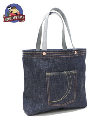 Momotaro jeans momotaro jeans oz denim tote bag dark indigo special jpg  350x400 Jeans tote bag c42cb9d2c39a8