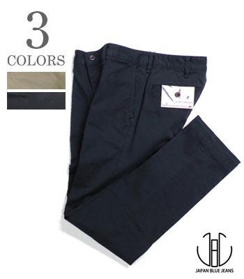 JAPAN BLUE ジャパンブルー コーマフレンチワークチノ|ストレッチ|スリムトラウザー『Slim Trousers』【アメカジ・ワーク】J22210J01(Pants)