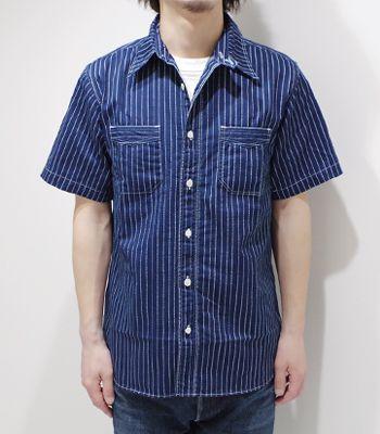 SUGAR CANE FICTION ROMANCE OLD WORK STYLEを演出するウォバッシュワークシャツ『8.5oz. WABASH STRIPE WORK SHIRT』【アメカジ・ワーク】SC36267A(Short sleeve shirt)