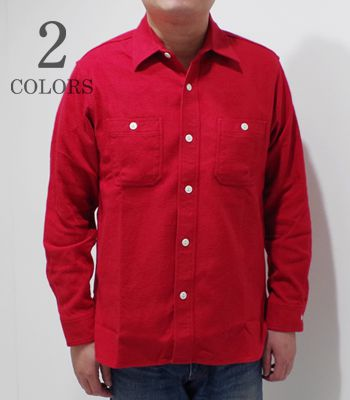 SUGAR CANE シュガーケーン 長袖 ツイル ネルシャツ『SOLID TWILL WORK SHIRT』【アメカジ・ワーク】SC27961(Long sleeve shirt)