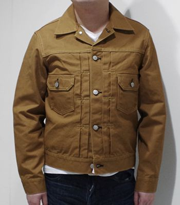 SUGAR CANE シュガーケーン 2ndタイプ|ブラウンダック|ジージャン『13oz. BROWN DUCK JACKET』【アメカジ・ワーク】SC14602(Other jacket)