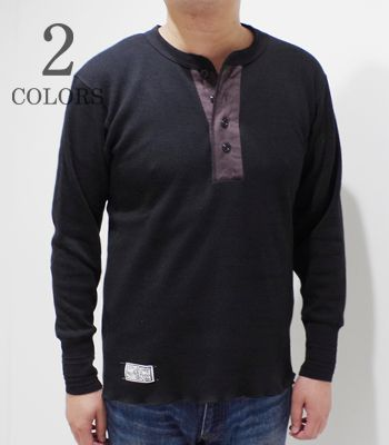 Dapper's ダッパーズ 長袖|ワッフル|ヘンリーネックTEE『Classical Henley Neck Mesh LST』【アメカジ・ワーク】1341(Long sleeve tee)