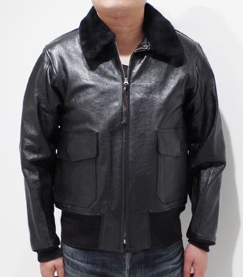 BUZZ RICKSON'S バズリクソンズ WILLIAM GIBSON COLLECTION|レザーフライトジャケット『TYPE BLACK AN-6552』【ミリタリー・フライト】BR80539(Flight jacket)