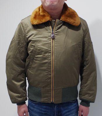BUZZ RICKSON'S バズリクソンズ シープムートン|コットンフライトジャケット『Type B-15 ROUGH WEAR CLOTHING CO.』【ミリタリー・フライト】BR14390(Flight jacket)