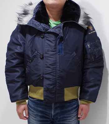 BUZZ RICKSON'S バズリクソンズ JACKET,AIRCREW,HEVY,ATTACHED|ナイロンフライトジャケット『Type N-2A C.H.MASLAND & SONS』【ミリタリー・フライト】BR14396(Flight jacket)