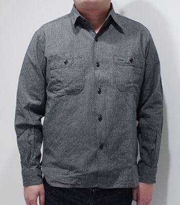 BUZZ RICKSON'S バズリクソンズ 長袖|コットンコバート|ワークシャツ『COTTON COVERT WORK SHIRT』【アメカジ・ミリタリー】BR26082(Long sleeve shirt)(std-lsh-buzz)