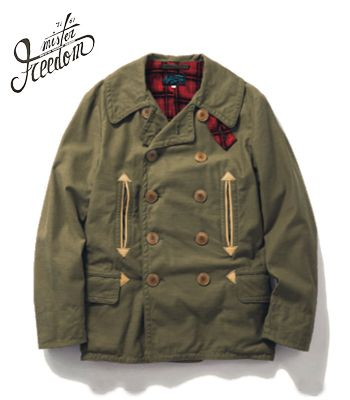 SUGAR CANE×Mr.FREEDOM SURPLUS Made in JAPAN|コットンサテン|Pコート『10oz. COTTON SATEEN MAC JACKET』【アメカジ・ワーク】SC13969(Other jacket)20%OFF