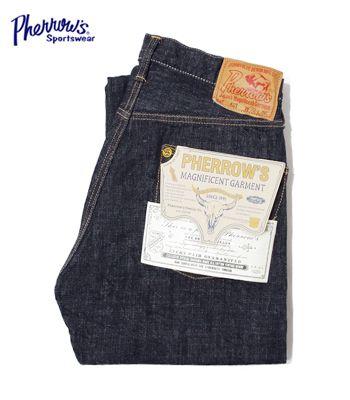 PHERROW'S フェローズ バッファローホーンステッチ|13.75oz|オリジナルインディゴデニム『オリジナルストレートジーンズ』【アメカジ・デニム】421SW(Denim)(std-jeans-pherrows)